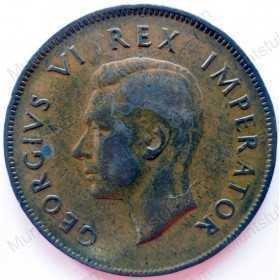 Penny, South Africa, 1943, Brass