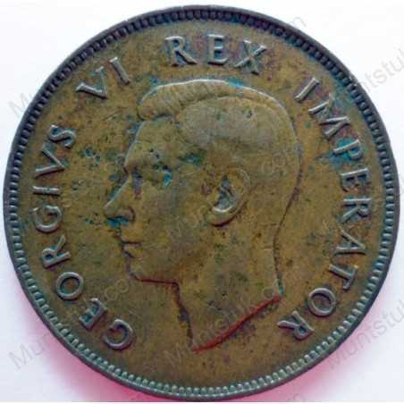Penny, South Africa, 1946, Brass