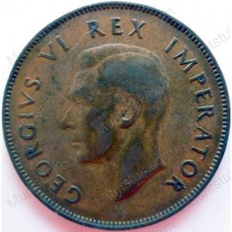 Penny, South Africa, 1947, Brass