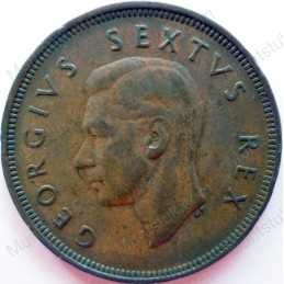 Penny, South Africa, 1949, Brass