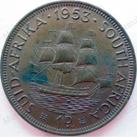 Penny, South Africa, 1953, Brass