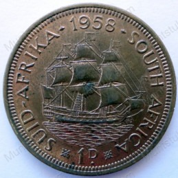 Penny, South Africa, 1958, Brass