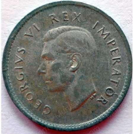 Threepence, South Africa, 1937, Silver