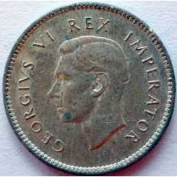 Threepence, South Africa, 1938, Silver