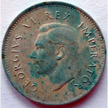 Threepence, South Africa, 1940, Silver