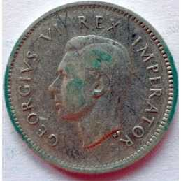Threepence, South Africa, 1941, Silver