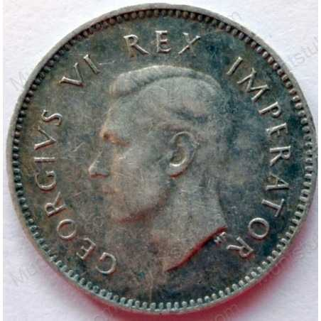 Threepence, South Africa, 1943, Silver