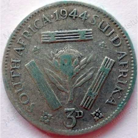 Threepence, South Africa, 1944, Silver