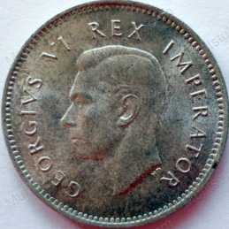 Threepence, South Africa, 1946, Silver