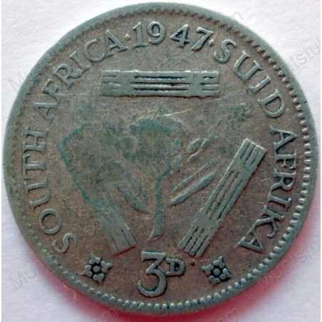 Threepence, South Africa, 1947, Silver