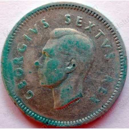 Threepence, South Africa, 1948, Silver