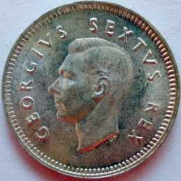 Threepence, South Africa, 1950, Silver
