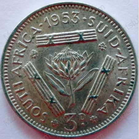 Threepence, South Africa, 1953, Silver