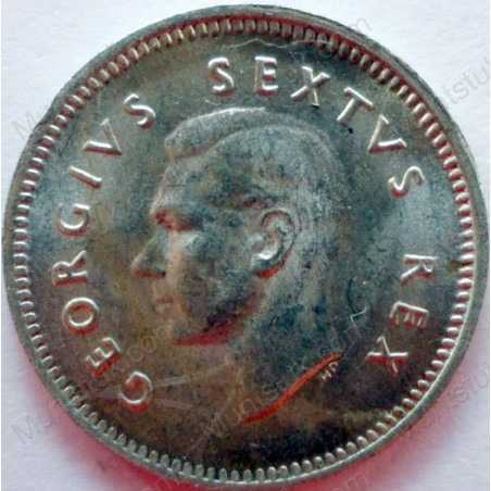 Threepence, South Africa, 1952, Silver