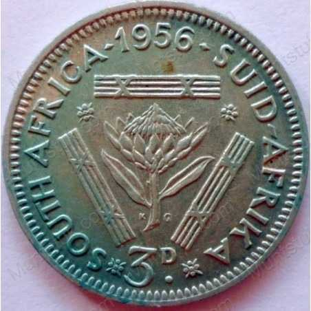 Threepence, South Africa, 1956, Silver