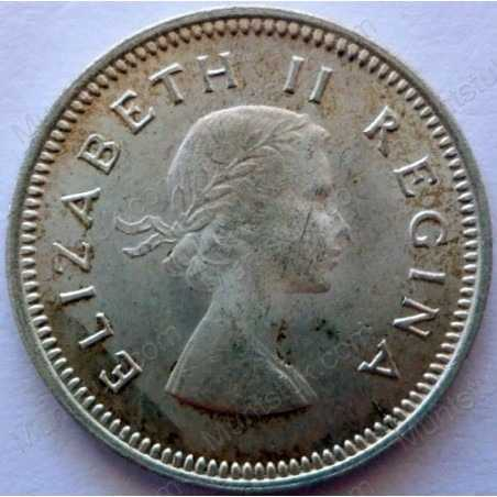 Threepence, South Africa, 1957, Silver