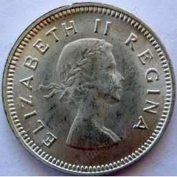 Threepence, South Africa, 1958, Silver