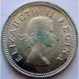 Threepence, South Africa, 1959, Silver