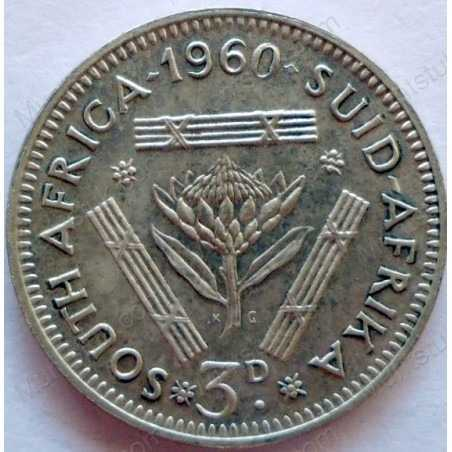 Threepence, South Africa, 1960, Silver