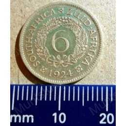 SixPence, South Africa, 1924, Silver
