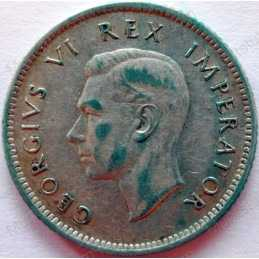 SixPence, South Africa, 1937, Silver