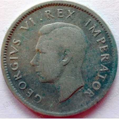 SixPence, South Africa, 1938, Silver