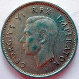 SixPence, South Africa, 1942, Silver