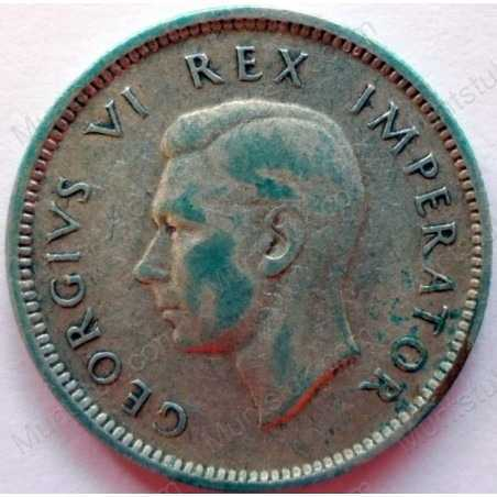 SixPence, South Africa, 1943, Silver