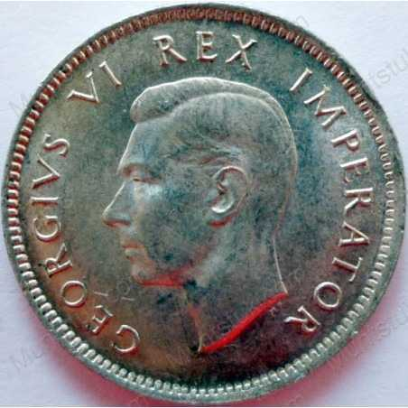 SixPence, South Africa, 1947, Silver