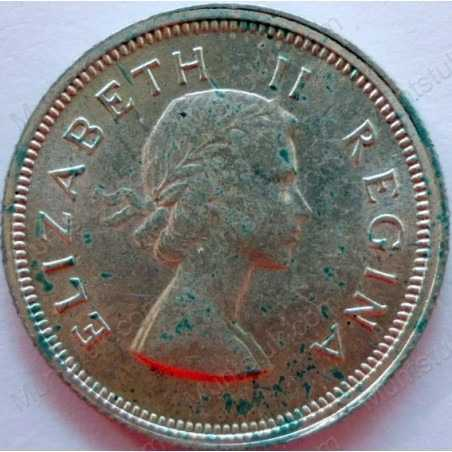 SixPence, South Africa, 1953, Silver