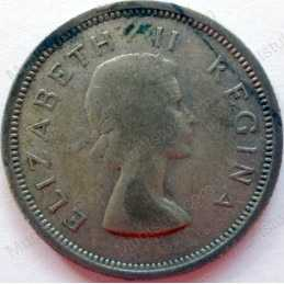 SixPence, South Africa, 1955, Silver