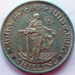 Shilling, South Africa, 1935, Silver