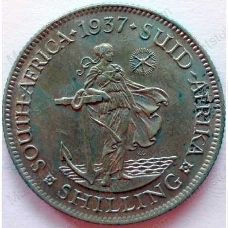 Shilling, South Africa, 1937, Silver