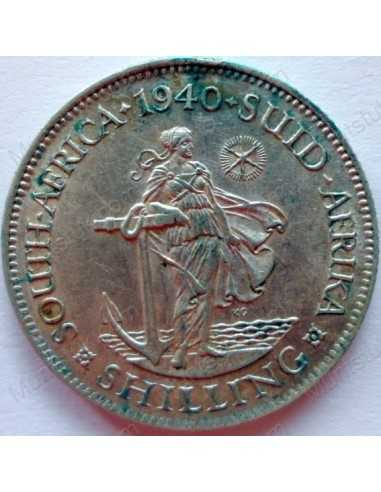 Shilling, South Africa, 1940, Silver