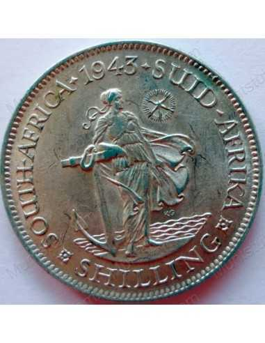 Shilling, South Africa, 1943, Silver