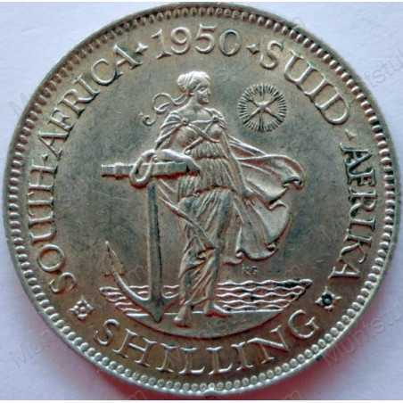 Shilling, South Africa, 1950, Silver