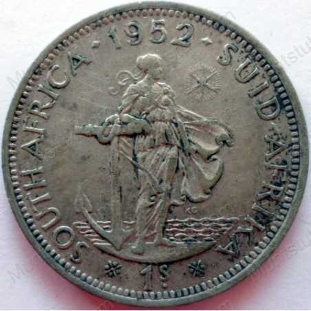 Shilling, South Africa, 1952, Silver