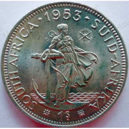 Shilling, South Africa, 1953, Silver