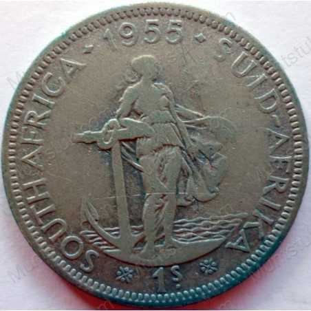 Shilling, South Africa, 1955, Silver