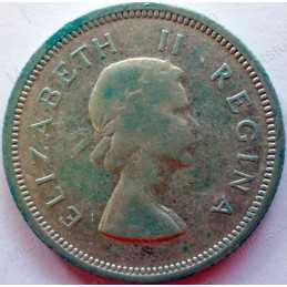Shilling, South Africa, 1956, Silver
