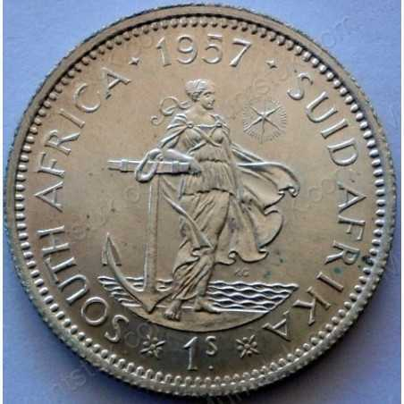 Shilling, South Africa, 1957, Silver