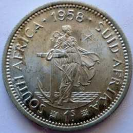 Shilling, South Africa, 1958, Silver
