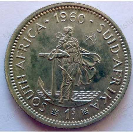 Shilling, South Africa, 1960, Silver