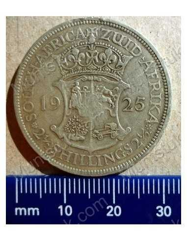 Two Shillings, South Africa, 1925, Silver