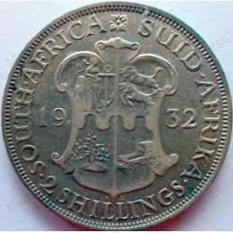 Two Shillings, South Africa, 1932, Silver