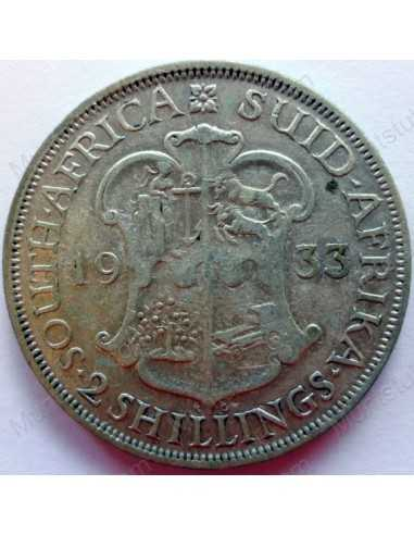 Two Shillings, South Africa, 1933, Silver