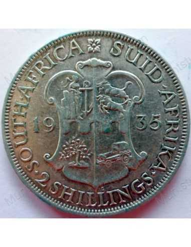 Two Shillings, South Africa, 1935, Silver