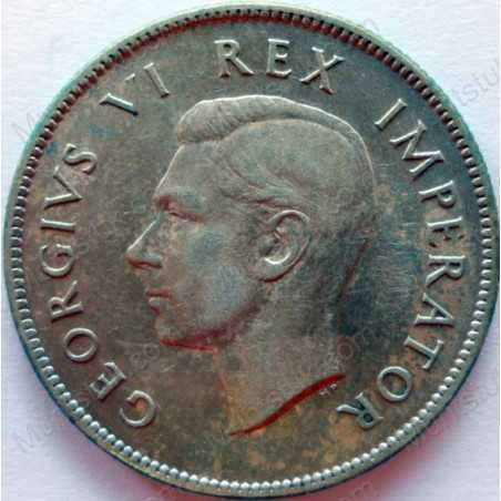 Two Shillings, South Africa, 1937, Silver