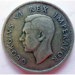 Two Shillings, South Africa, 1941, Silver