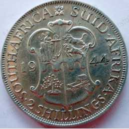 Two Shillings, South Africa, 1944, Silver